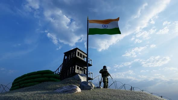 Thumbnail for Soldier Protecting Guard by the Border of India