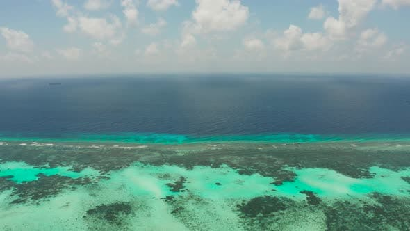 Thumbnail for Seascape with Coral Reef and Atoll in the Blue Sea Balabac, Palawan, Philippines