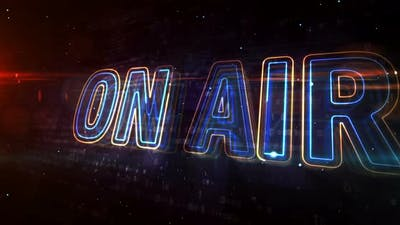 On air radio neon sign abstract concept