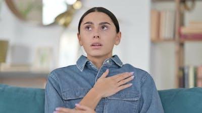 Latin Woman Feeling Scared