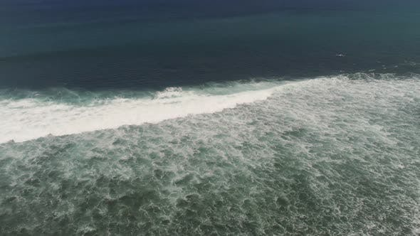 Thumbnail for Water Surface with Big Waves, Aerial view.Bali