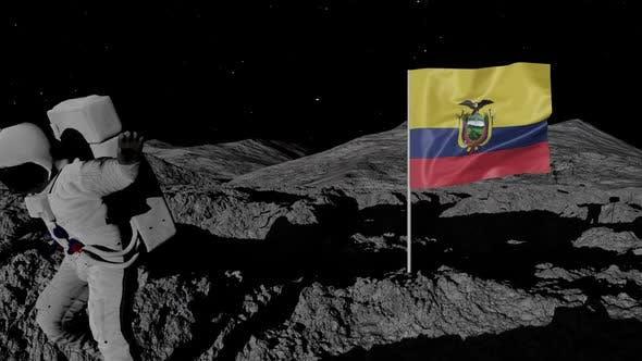 Thumbnail for Astronaut Planting Ecuador Flag on the Moon