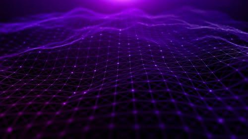 Purple Color Particles Wave Flowing 952