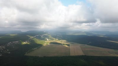 Wheat Fields Aerial View