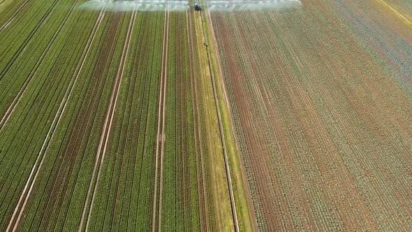 Irrigation System on Agricultural Land.