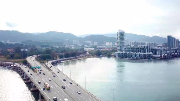 Thumbnail for Penang Bridge Drone Shot