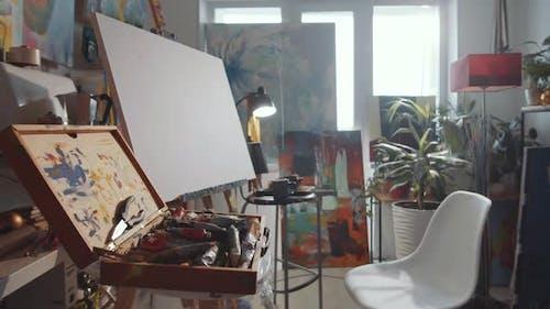 Interior of Home Art Studio