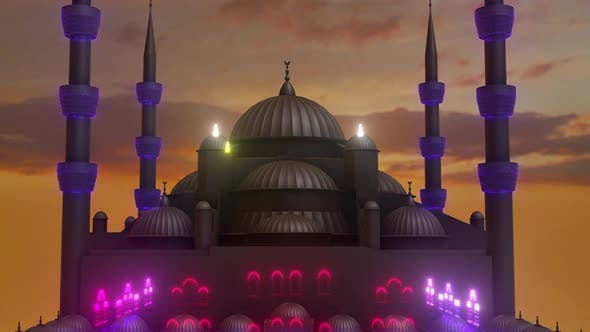 Sultan Ahmet Mosque Abstract Motion Graphics 4k