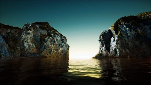 Thumbnail for Rocky Cliff at Cold Sea Water