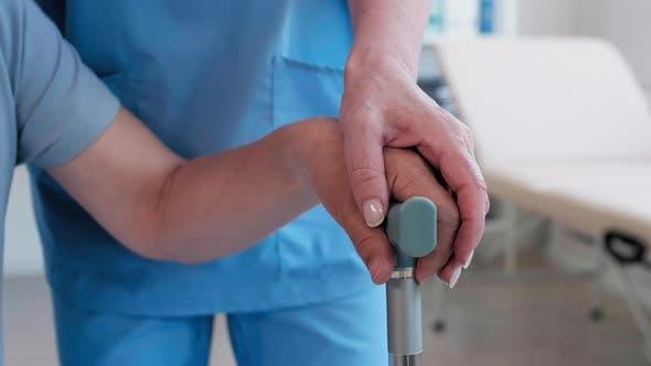 Thumbnail for Unrecognizable Patient Having Treatment in Rehab Center