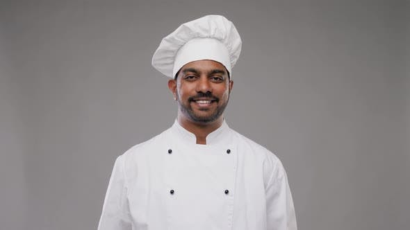 Happy Male Indian Chef in Toque 16