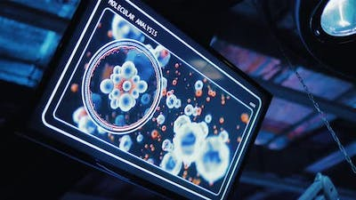Movement of Cells Molecules on the Screen