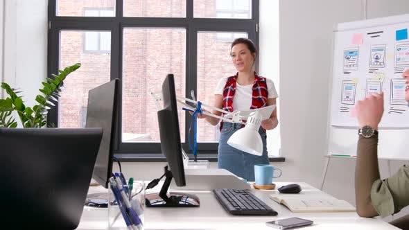 Creative Woman at User Interface Presentation