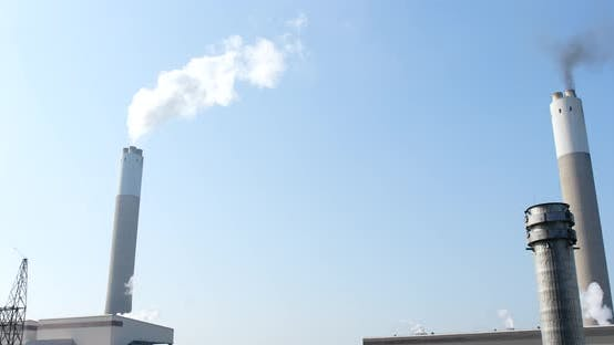 Thumbnail for Air pollution by smoke coming out of the factory chimney