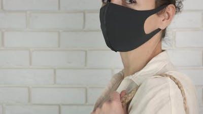 Volunteer in Mask with Food