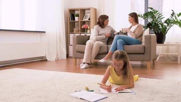 Cover Image for Female Family Spending Time at Home