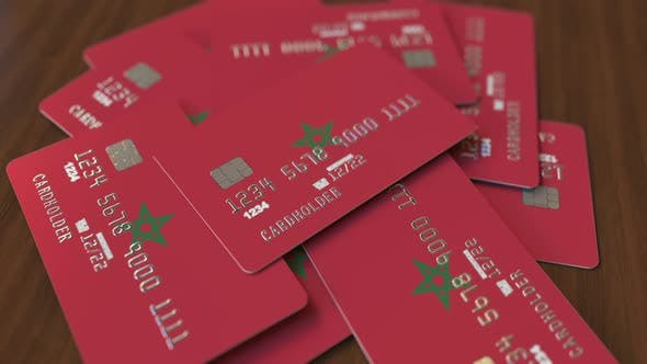 Thumbnail for Pile of Credit Cards with Flag of Morocco