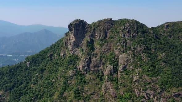 Hong Kong lion rock mountain