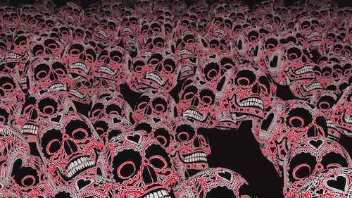 4K Tattooed skulls