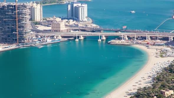 Dubai Summer Beach Aerial