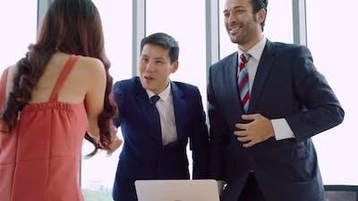 Job Seeker and Manager Handshake in Job Interview