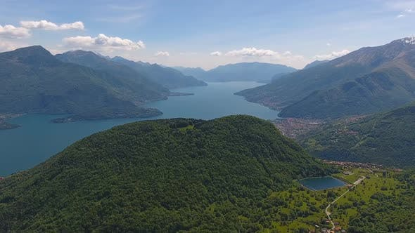 Thumbnail for Aerial Landscape on Como Lake in Italy