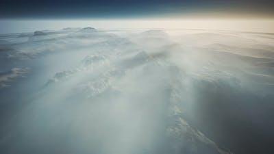 Alps Mountain Range Aerial Shot Flying