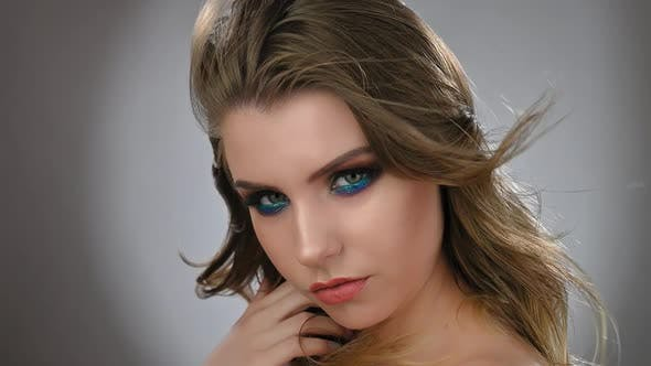 Thumbnail for Fashion Model Woman in Trendy Make-up