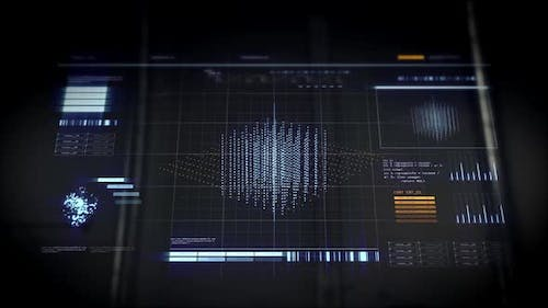 Hand Touches Virtual Screen with 3d Cube Rendering