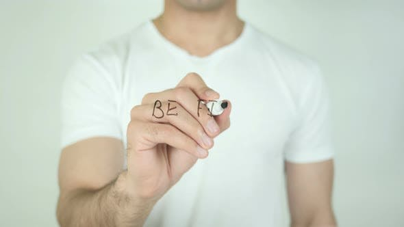 Thumbnail for Be Fit, Writing On Transparent Screen