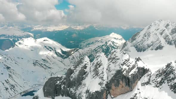 Thumbnail for Mountains in Dolomites, Italy - Blue Sky and Clouds