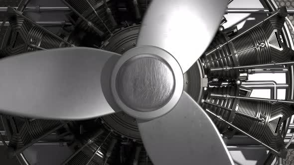 Thumbnail for Blades of a jet engine