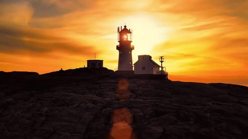 Lindesnes Lighthouse Is a Coastal Lighthouse at the Southernmost Tip of Norway