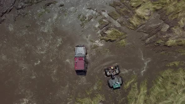Thumbnail for Festival of Off-road Lovers. SUVs Drive the Swamp. Cars Skid in the Mud.