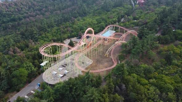 Roller Coaster Aerial