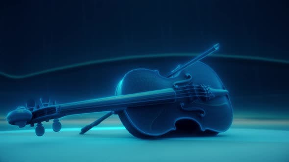 Digital Musical Violin Presenting Digital Classical Music 4k