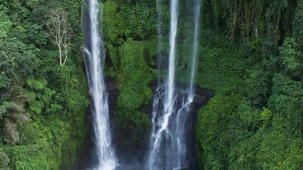 Thumbnail for Panning Around Two Waterfalls