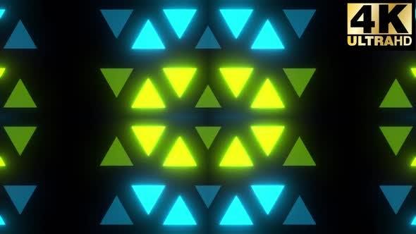 Thumbnail for Glowing Triangles Vj Loop Pack 4k