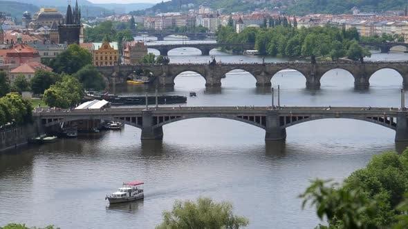 Thumbnail for Vltava River seen from Letna Park