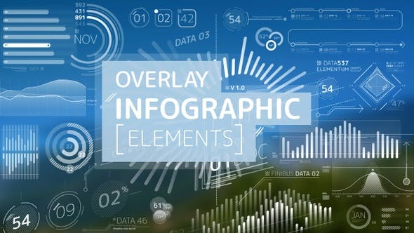 Thumbnail for Overlay Infographic Elements Pack