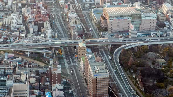 Thumbnail for Osaka City Multilevel Interchange on Day Timelapse