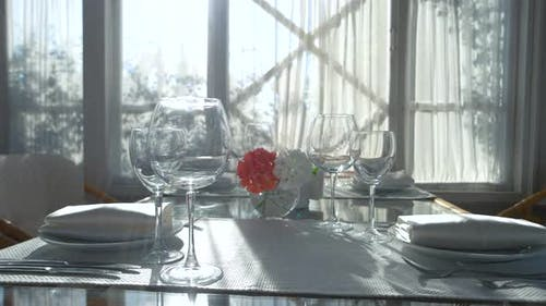 Dining Table and Sunlight.