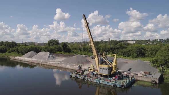 Thumbnail for River Crane Excavator on Barge