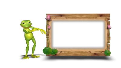 Dancing Frog Funny Loop On White Background