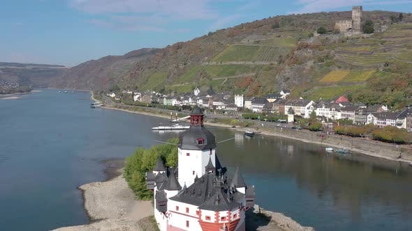 Thumbnail for Unusual Abandoned Castle in the Rhine Valley in Germany