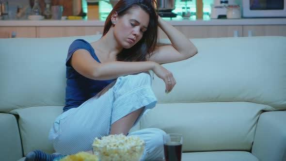 Thumbnail for Woman Asleep on Sofa