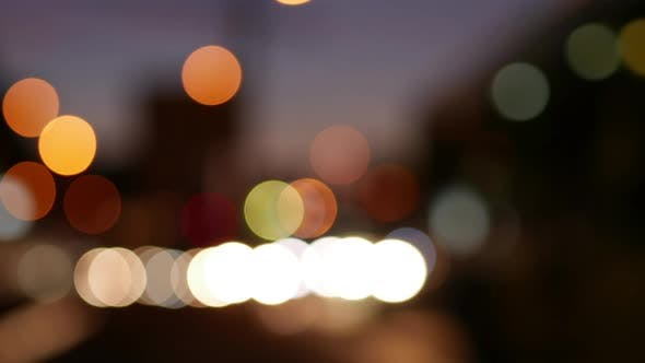 Thumbnail for City Traffic Bokeh And Lights On Sunset