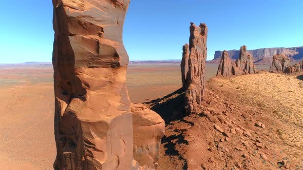 Thumbnail for Aerial  View of the Diverse Rock Formations