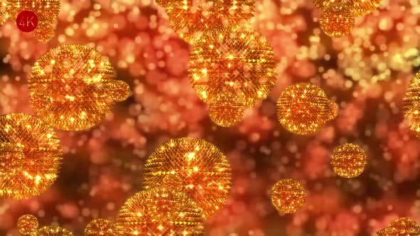 Алмазные золотые сферы 3