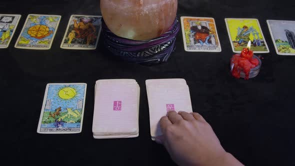 Thumbnail for Fortune Teller Using Tarot Cards On A Black Table 08
